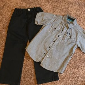Other - Bundle of boys size 5 pants and button down shirt